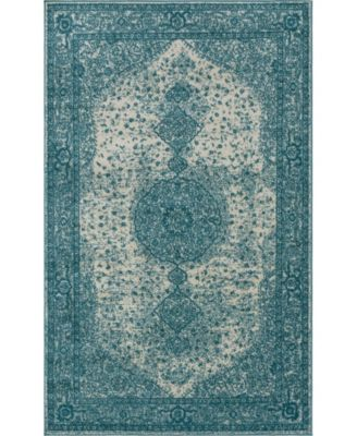 Mobley Mob1 Turquoise 5' x 8' Area Rug