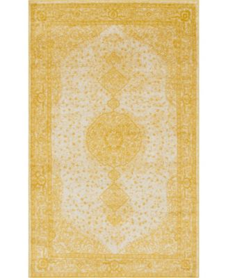 Mobley Mob1 Yellow 5' x 8' Area Rug