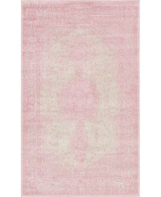 Mobley Mob1 Pink 5' x 8' Area Rug
