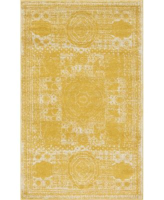 "Mobley Mob2 Yellow 5' 10"" x 8' Area Rug"