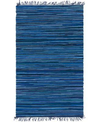 Jari Striped Jar1 Navy Blue 4' x 6' Area Rug