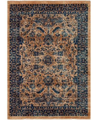 Thule Thu5 Navy Blue 4' x 6' Area Rug