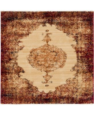 """Thule Thu2 Red 4' 5"""" x 4' 5"""" Square Area Rug"""