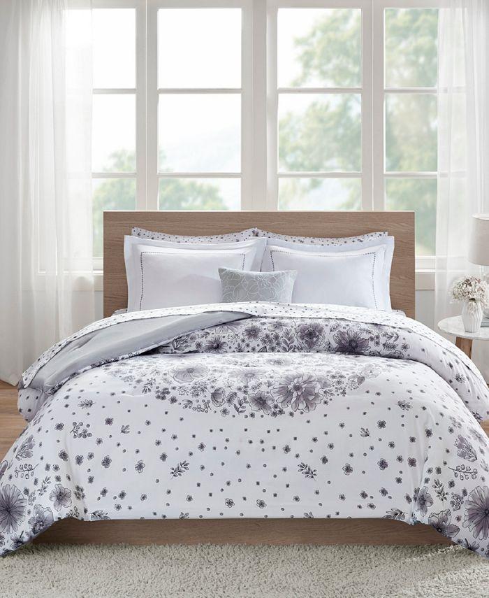 Intelligent Design - Emma Queen 8 Piece Comforter and Sheet Set