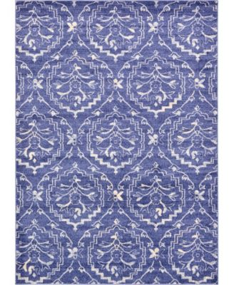 Felipe Fel1 Blue 7' x 10' Area Rug
