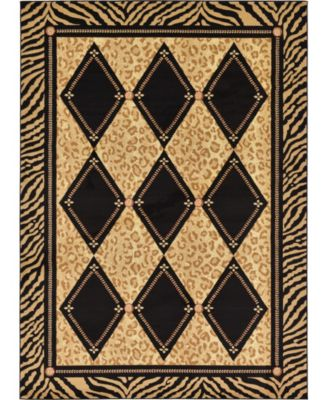 Maasai Mss6 Light Brown 7' x 10' Area Rug