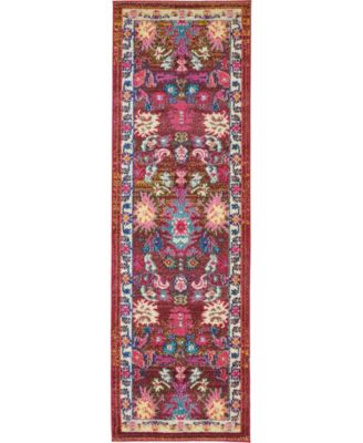 "Sana San1 Multi 2' 2"" x 6' 7"" Runner Area Rug"