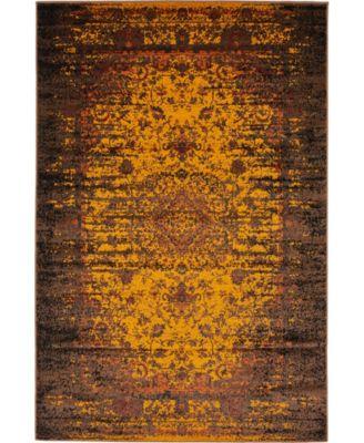 Linport Lin4 Orange 4' x 6' Area Rug