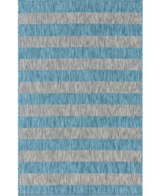 Pashio Pas7 Light Aqua 5' x 8' Area Rug