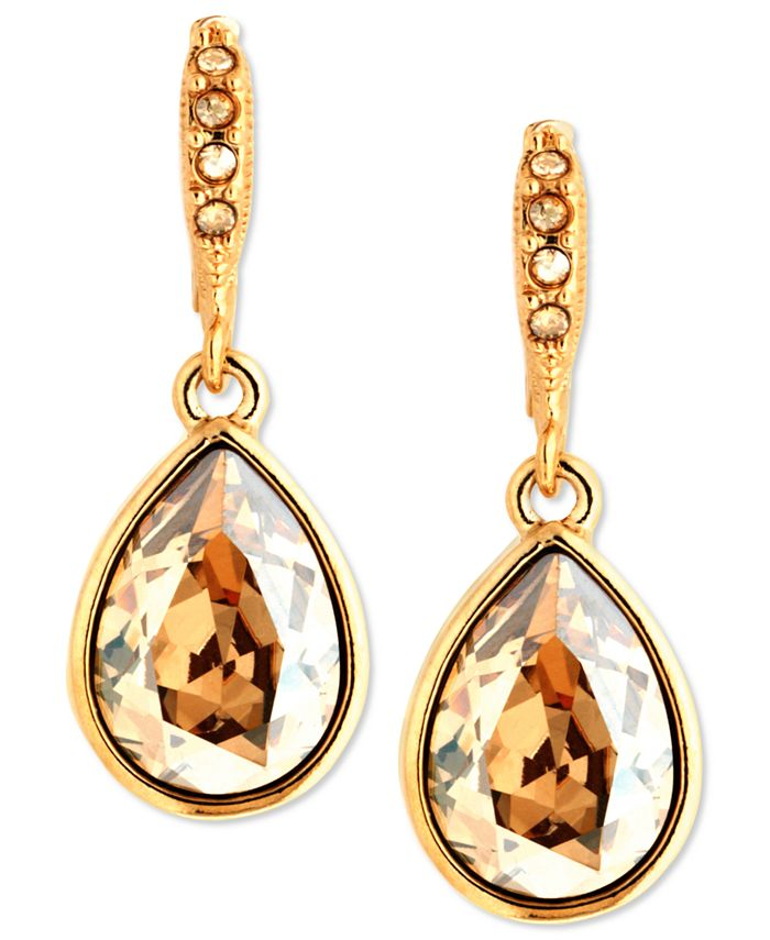 Givenchy - Earrings, Gold-Tone Golden Shadow Swarovski Element Drop Earrings