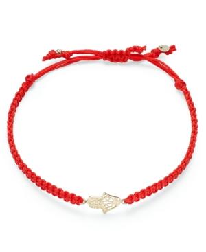 Macy's - 10k Gold Bracelet, Red Rope Hamsa Bracelet