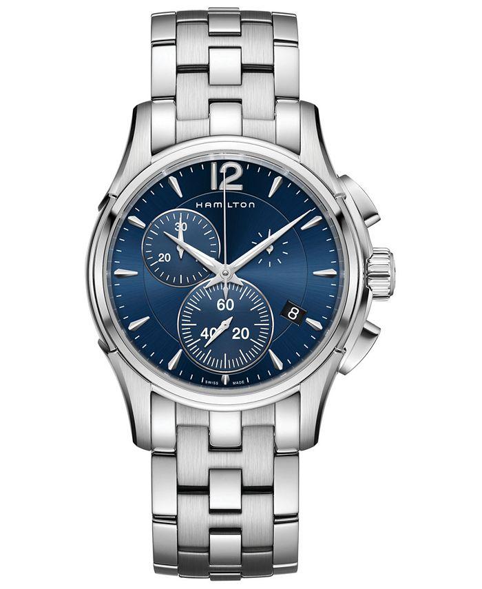 Hamilton - Men's Swiss Chronograph Jazzmaster Stainless Steel Bracelet Watch 42mm