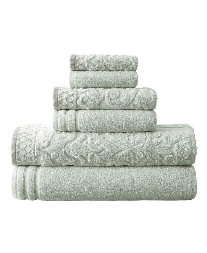 Modern Threads - Damask Jacquard Embellished Border 6-Pc. Towel Set