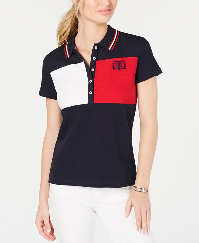 Tommy Hilfiger - Short-Sleeve Colorblocked Polo Top