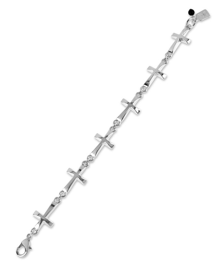 Robert Lee Morris Soho - Bracelet, Silver-Tone Cross Link Bracelet