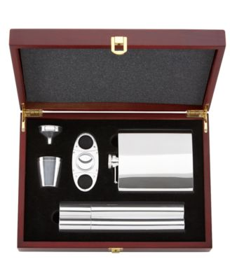 Gorham Barware, That's Entertainment 5 Piece Flask & Cigar Set