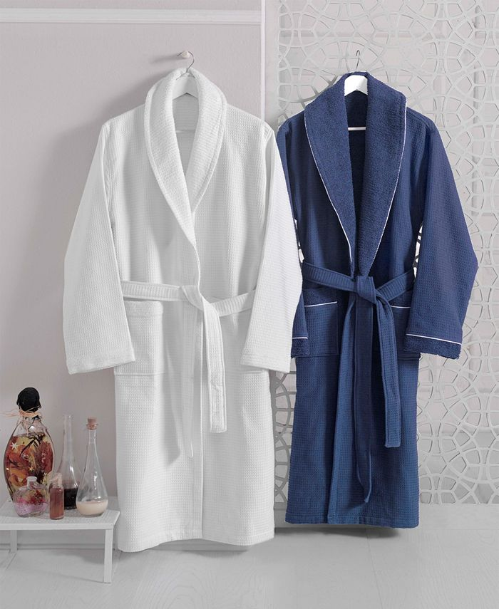 Enchante Home - Waffle Terry Turkish Cotton Bathrobe