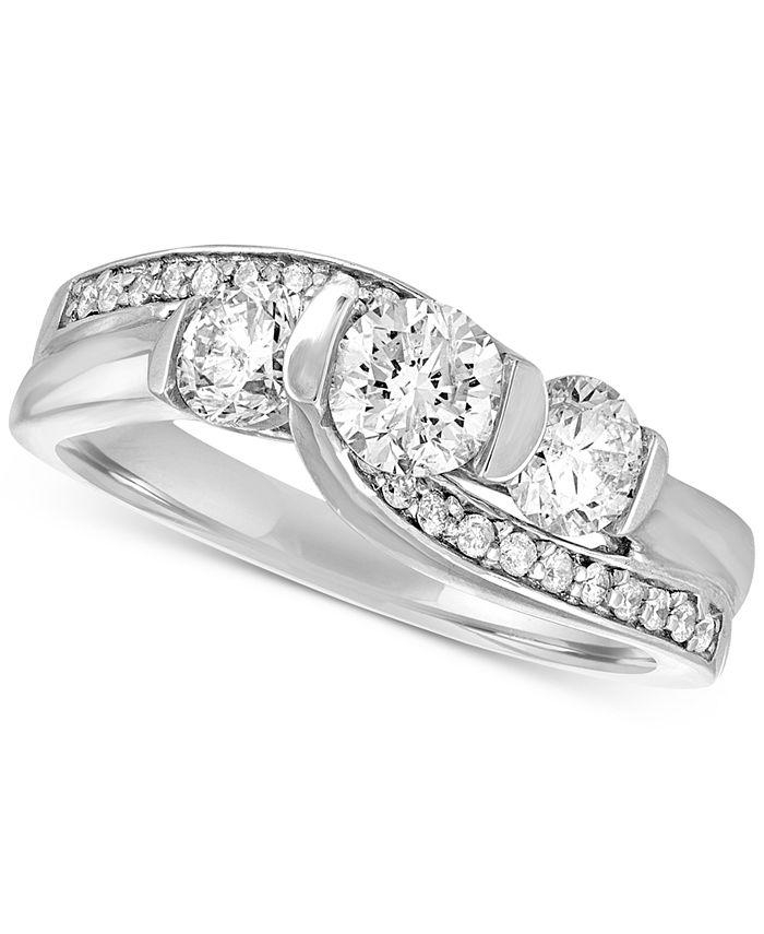 Macy's - Diamond Bridal Ring (1-1/4 ct. t.w.) in 14k White Gold