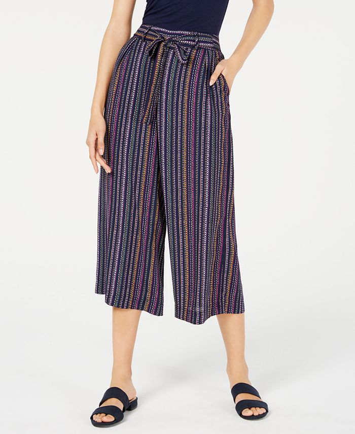 Maison Jules - Textured Wide-Leg Culottes