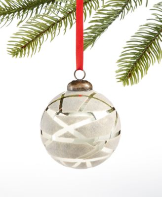 Birds & Boughs,  Silver Ball Ornament, Created for Macy's
