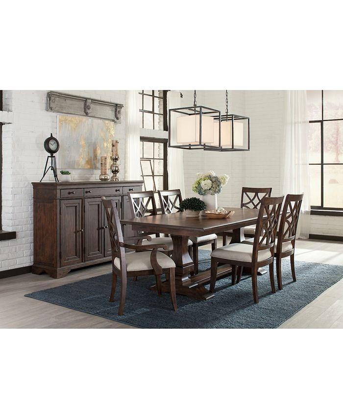 Trisha Yearwood Home - Trisha Dining Furniture, 7-Pc. Set (Expandable Table, 4 Side Chairs & 2 Arm Chairs)
