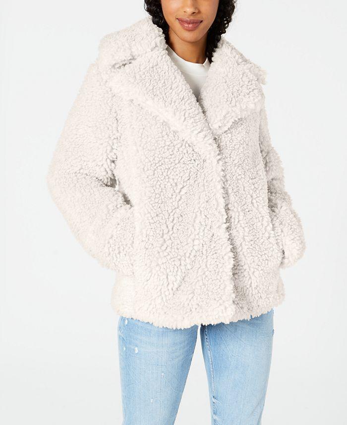 kensie - Faux-Fur Teddy Coat