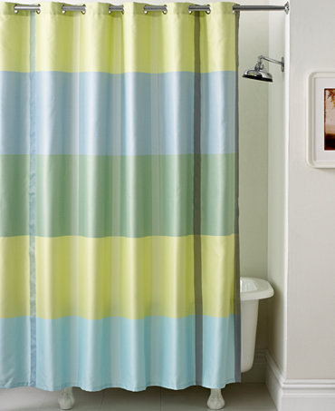 martha stewart collection encore stripe shower curtain shower