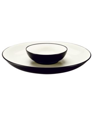 Noritake Dinnerware, Colorwave Graphite Chip & Dip