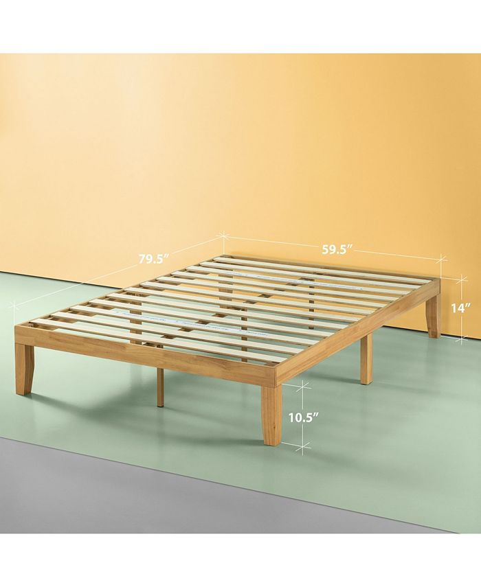 Zinus Moiz 14 Wood Platform Bed No, Queen Bed No Box Spring