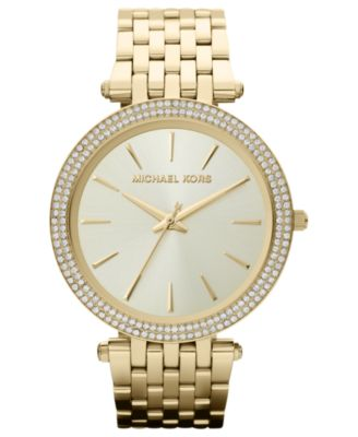 Michael Kors Watch Womens Darci Gold-Tone Stainless Steel Bracelet 39mm MK3191