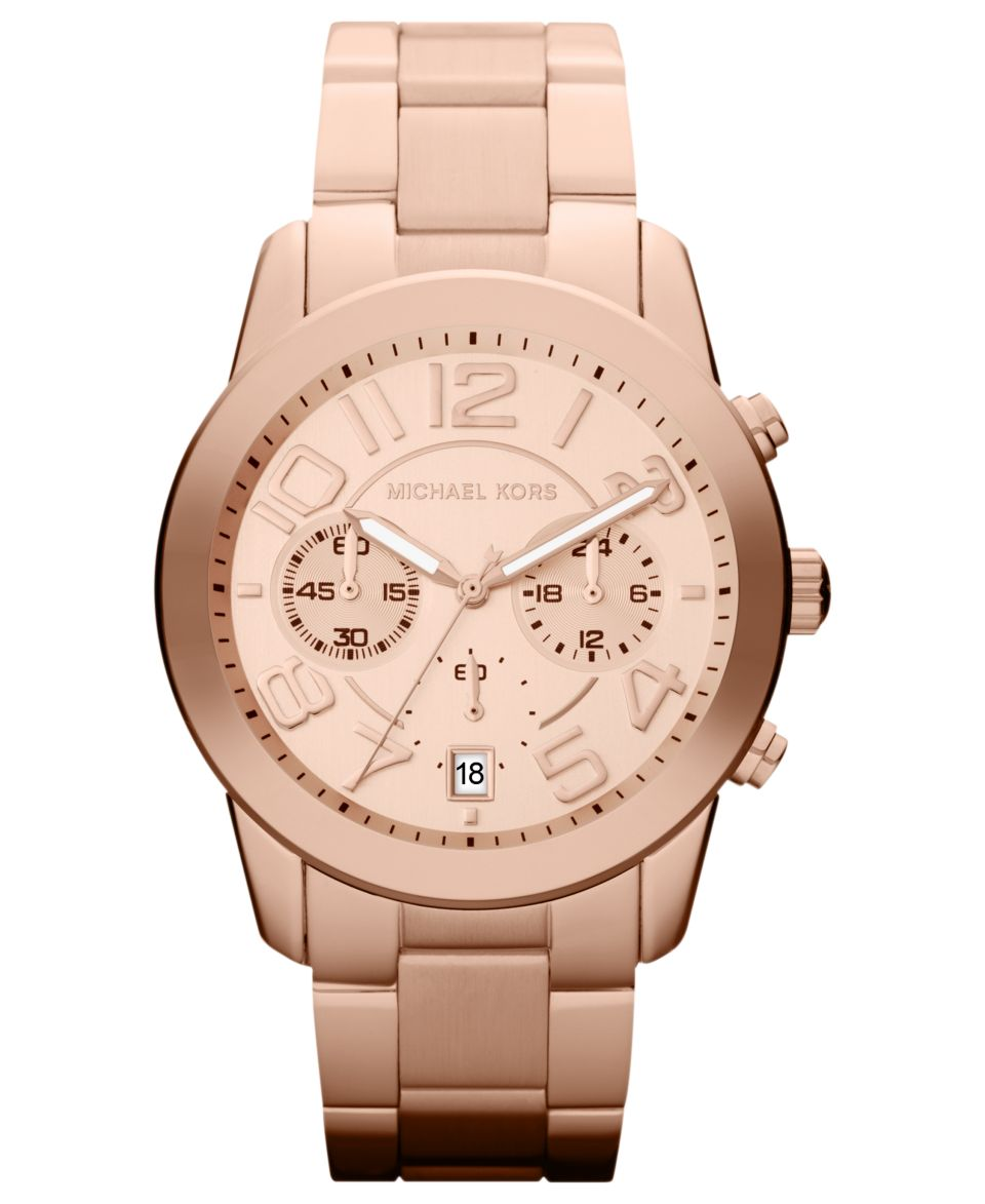 d5c88e7f7e5a Michael Kors Womens Runway Rose Gold Plated Stainless Steel Bracelet Watch  38mm MK5128 Watches Jewelry   Watches