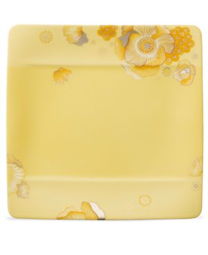 Villeroy & Boch Dinnerware, Modern Grace Peonia Yellow Square Salad Plate