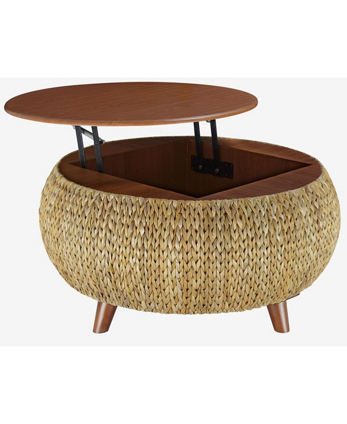 Gallerie Décor - Round Storage Table, Quick Ship