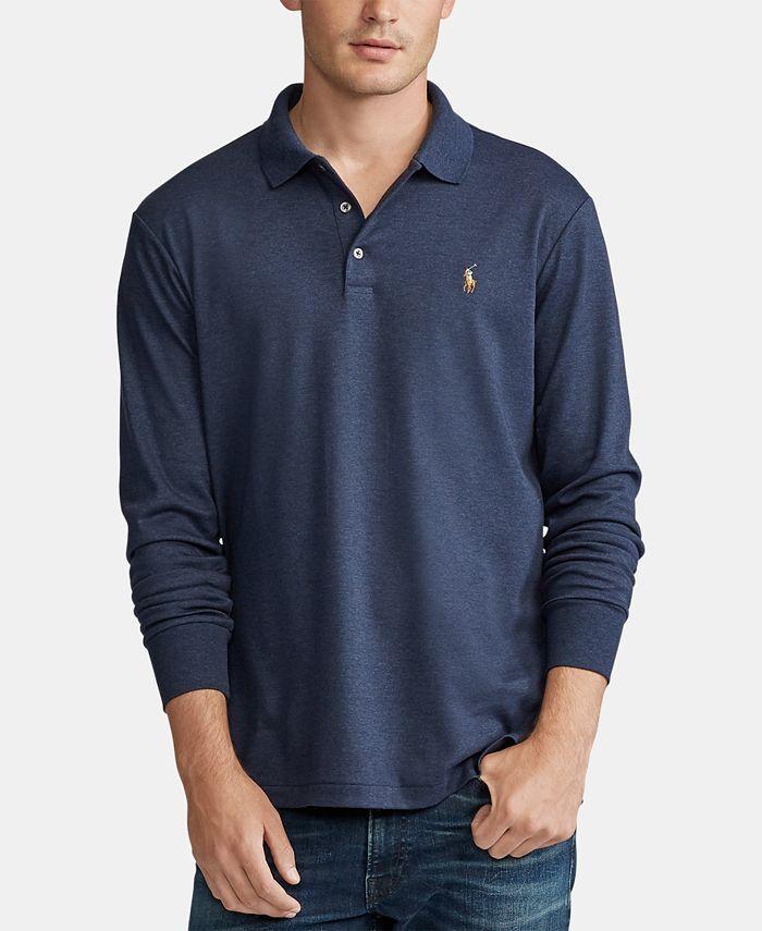 Polo Ralph Lauren Men's Long Sleeve Soft Cotton Polo Shirt ...