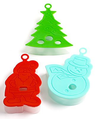 Martha Stewart Collection Cookie Cutters, Set of 3 Stamp & Press Holiday