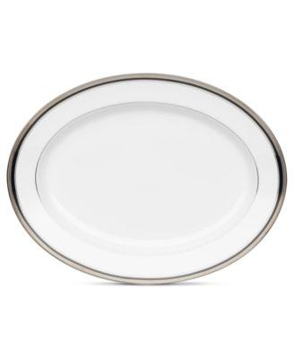 Noritake Dinnerware, Austin Platinum Oval Platter