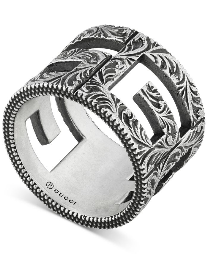 Gucci - Decorative G Cube Ring in Sterling Silver