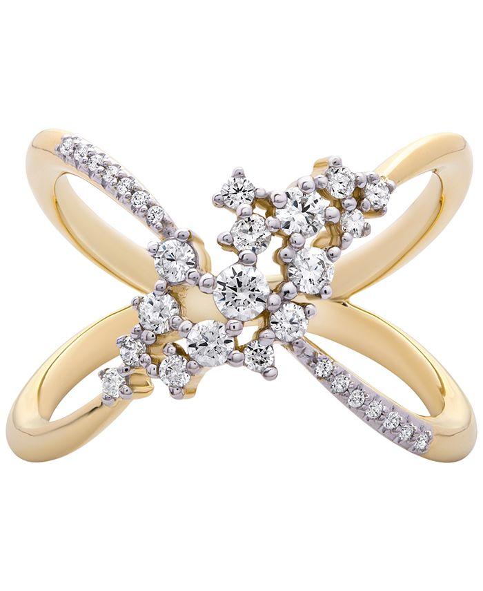 Macy's - Diamond Open-Work Ring (1/2 ct. t.w.) in 14k Gold