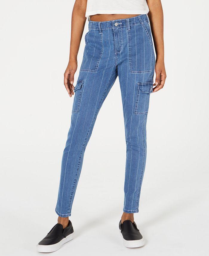 Dickies - Pinstripe-Denim Skinny Carpenter Pants