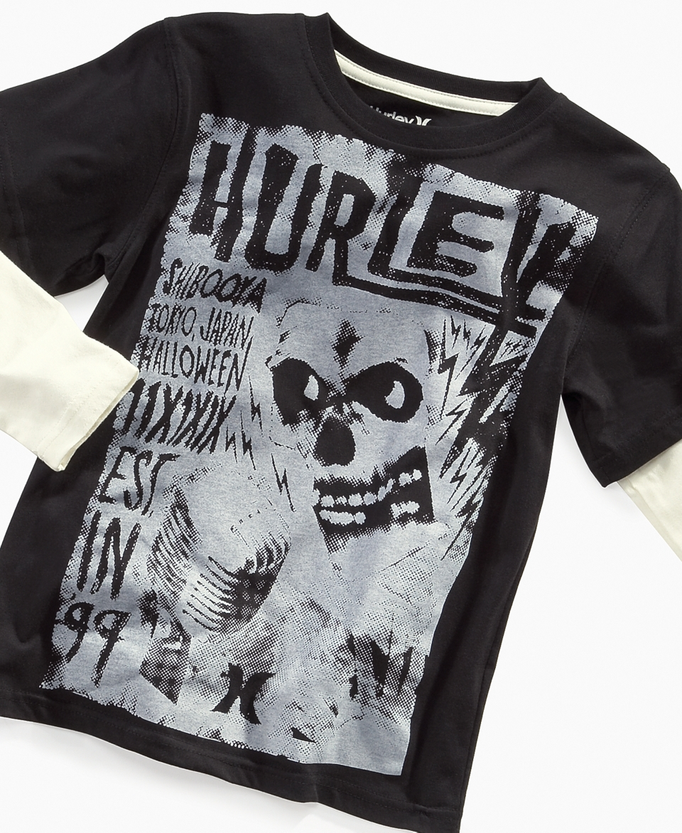 Hurley Kids T Shirt, Boys Skull Slider   Kids Boys 8 20