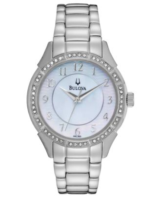 Bulova Women's Stainless Steel Bracelet Watch 33mm 96L182