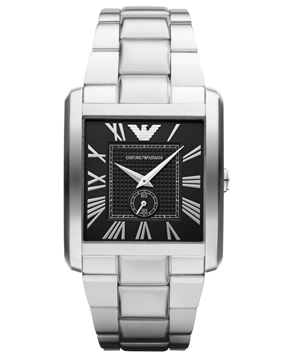 Emporio Armani Watch, Mens Stainless Steel Bracelet 37x35mm AR1642