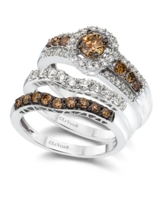 Le Vian White And Chocolate Diamond Engagement Ring 7 8