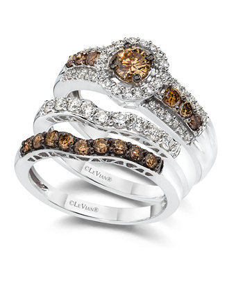 Le Vian Diamond Stackable Rings In K White Gold