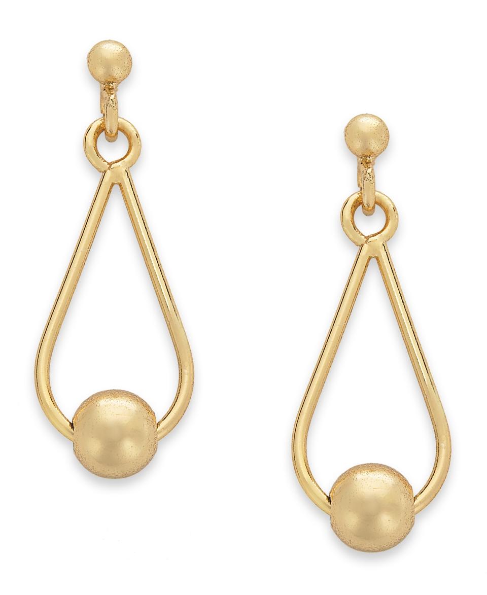 Giani Bernini 24k Gold over Sterling Silver Earrings, Teardrop Bead Earrings   Earrings   Jewelry & Watches