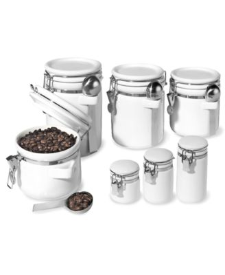 Oggi Food Storage Containers, 7 Piece Set Ceramic Canisters