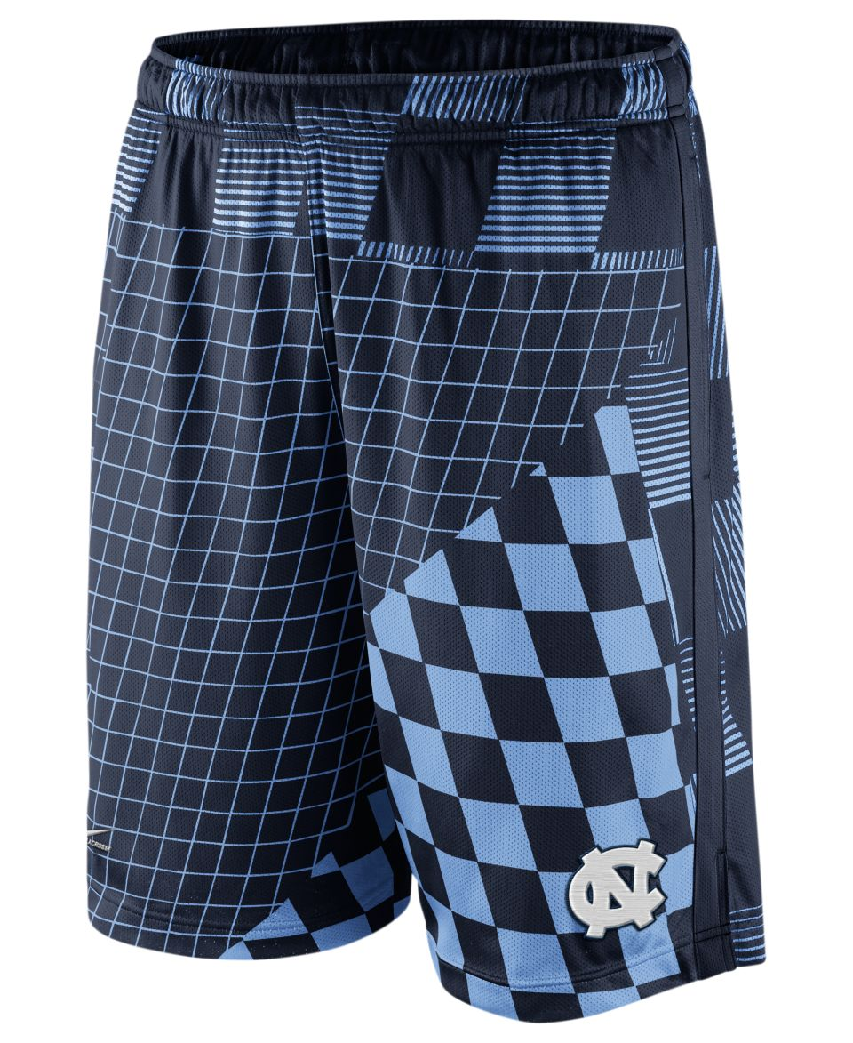 Nike NCAA Shorts, North Carolina Tar Heels College LAX Dri Fit Digital