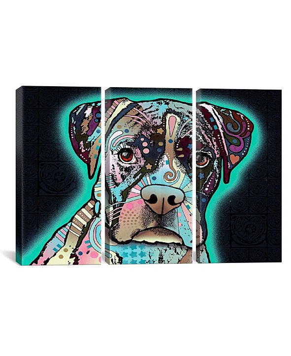 "iCanvas Love Thy Boxer by Dean Russo Gallery-Wrapped Canvas Print - 40"" x 60"" x 1.5"""