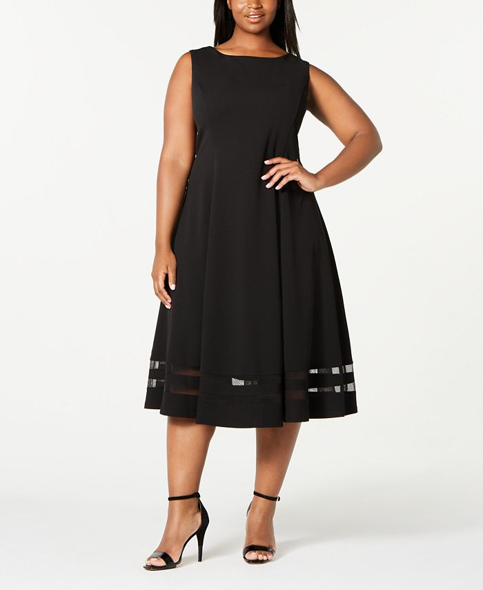 Calvin Klein - Trendy Plus Size Illusion-Hem Midi Dress