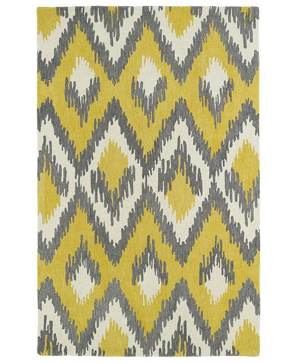 """Kaleen Global Inspirations GLB10-28 Yellow 5' x 7'9"""" Area Rug"""